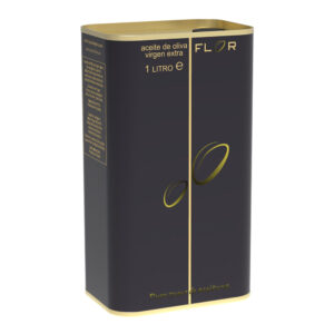 Can of Extra Virgin Olive Oil EVOO ARBEQUINA 1 Liter Premium