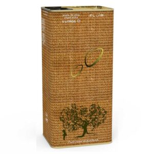 Can of Extra Virgin Olive Oil EVOO ARBEQUINA 5 Liters Mod SACK