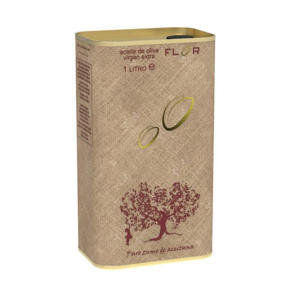 Lata de Aceite de Oliva Virgen Extra AOVE ARBEQUINA 1 Litro Mod: SACO