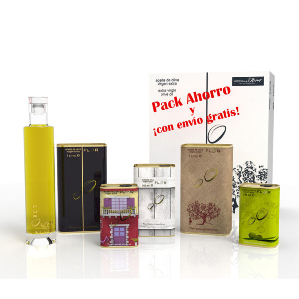 Pack aceite de oliva Arbequina-Picual